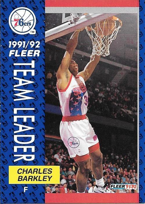 Charles Barkley ~ 1991-92 Fleer #391 ~ 76ers