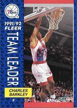 Charles Barkley ~ 1991-92 Fleer #391 ~ 76ers - $0.05