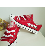 49ers shoes womens sneakers red fashion sf 49ers tennis shoes san franci... - $55.99