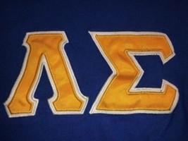 Men's Small Lambda Sigma National Honor Society Greek Letters Blue T-Shi... - $9.00