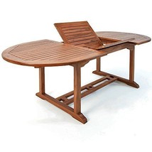 Patio Wooden Dining Set 6 Seater Oval Table Chairs Garden Conservatory Furniture image 2