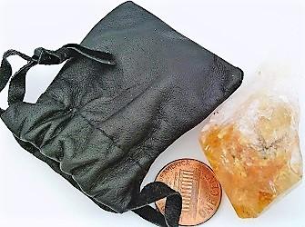 Citrine Crystal Specimen Keepsake Pouch 10 - $5.33
