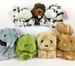 Lot 7 Puffkins Stuffed Toy Plush Bunny Tasha Tiger Antsy Bear Retired Ch... - $44.64