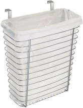 Steel Cabinet Mount Holder Organizer Trash Waste Basket Kitchen NEW - $28.75