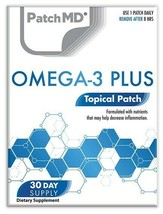 New Formula! PatchMD Omega -3 Plus Patch 30-patches Patch-MD OM3 - $14.99