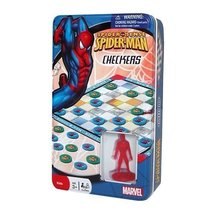 Marvel Spider Sense Spider-Man Checkers in Collectible Tin - $19.99