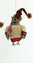 katherine's collection owl Ornament cozy aspen 18-944778 tan sweater - $29.69