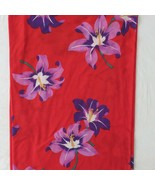 Vtg Tropical Print Fabric Red Purple Hibiscus 1980 Kuttner Print Knit 60... - $27.02
