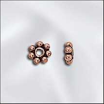 4mm Genuine Antiqued Copper Bali Style Daisy Spacers Beads (10)  - $1.44