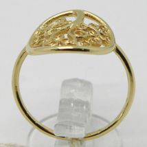 18K YELLOW GOLD TREE OF LIFE RING, SMOOTH, BRIGHT, LUMINOUS, MADE IN ITALY image 3