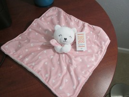 NWT Carters Just One You White Bear Pink Heart Lovey Baby Security Blanket  - $24.74