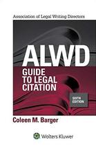 ALWD Guide to Legal Citation (Aspen Coursebook Series) [Spiral-bound] Co... - $36.99