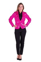 Ladies  2017 style Sequinned Cabaret Jackets - Pink - $64.44