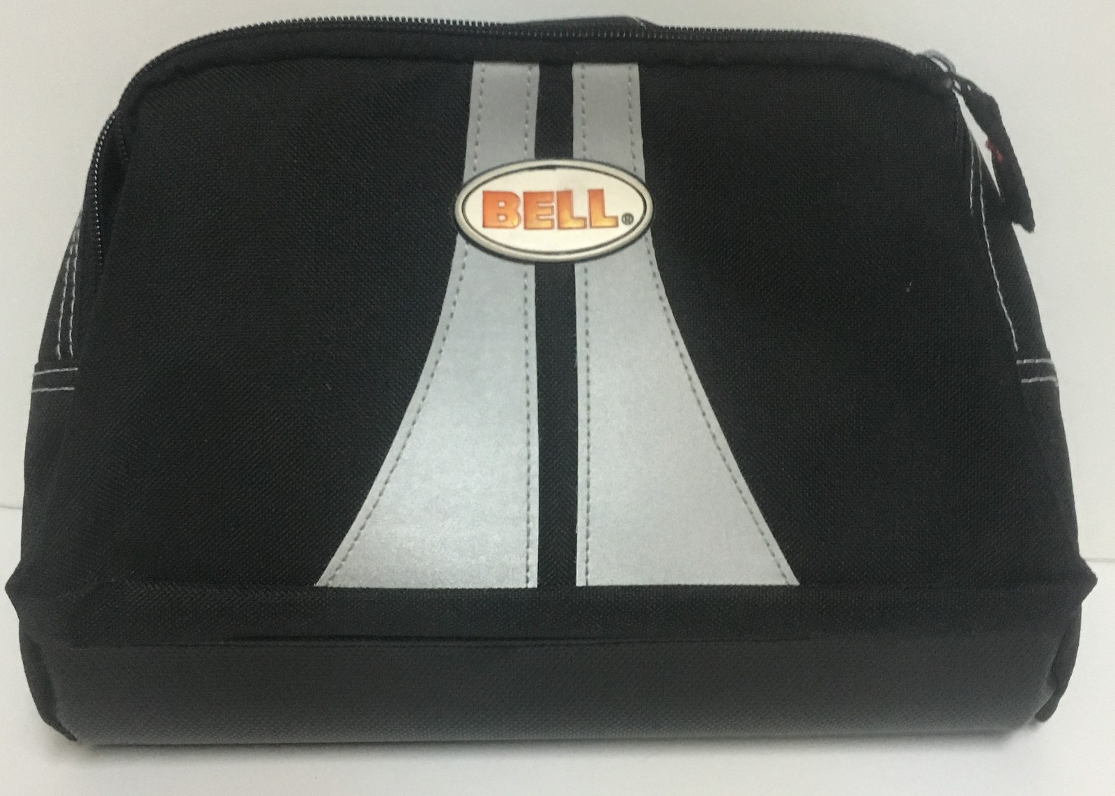 """BELL Reflective Belt Bag Motorcycle Hiking Travel 11"""" x 8"""" x 6"""" Two Compartments"""