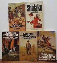 Louis L'Amour - Five Softbound Books: Bowdrie, Shalako, Catlow, Where th... - $39.95