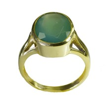 comely Green Onyx Gold Plated Green Ring genuine regular US gift - $24.99
