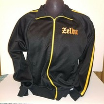 Nintendo Zelda Track Jacket Full Zip Old School Logo Size Large Video Ga... - $35.53