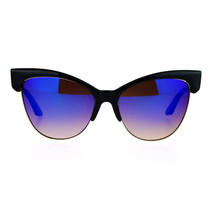 Oversized Cateye Butterfly Sunglasses Womens Mirror Lens Fashion Shades - $11.95