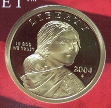 2004-S Ultra Cameo Gem Proof Sacagawea Dollar #0772 - $13.59