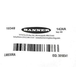 NEW BANNER LMB30RA (18348) BRACKET: INDICATOR LIGHT MOUNTING RIGHT ANGLE image 3