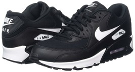 Nike Women's Air Max 90 Size 11.5 - Black White Running Shoes 325213-047 - $107.79