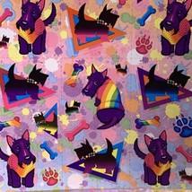 Lisa Frank Complete Sticker Sheet S283 Handsome Terrier Pup Headed Pridefest image 2