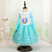 HOT!Frozen Princess Fancy Dresses  Girls Dresses Elsa Princess Party Dre... - $16.99