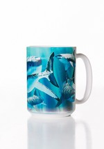 Great White Shark Week Ceramic Coffee Mug Cup 15 oz White - $19.79