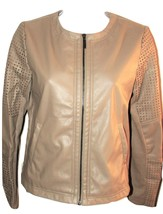 mark. by Avon On Top of Things Beige Faux Leather Jacket - $27.99