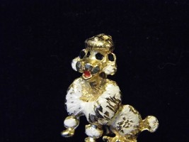 Vintage Enameled Poodle Brooch Pin Costume Fashion Jewelry Pin - $9.66