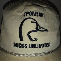 Vintage DUCKS UNLIMITED Sponsor 80s USA Hat Cap Strapback Dorfman Pacific ROPE image 3