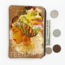African Woman Portrait Juneteenth : Gift Coin Purse Ethnic Art Black Cul... - £7.15 GBP