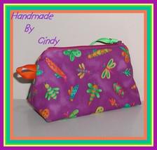 Mini Baby Bag Zip Pacifier Binky Pouch Butterfly Unisex Boy Girl Purple ... - $9.00