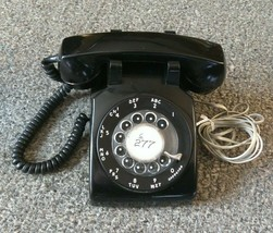 VINTAGE ROTARY DIAL DESK STROMBERG  CARLSON TELEPHONE BLACK WORKS HAS CORDS - $60.78