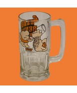 Vintage  Ziggy Glass Beer Mug Elbow Bender Contender 1981 Heavy Novelty ... - $15.94