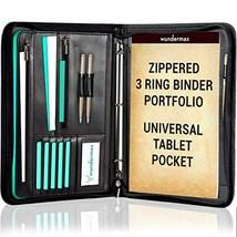 Portfolio Binder A Zippered Padfolio with 3 Ring Binder Document Organizer  - $44.34