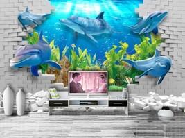 3D Der Hai Wasserpflanzen Fototapeten Wandbild Fototapete BildTapete Familie DE - $52.21+