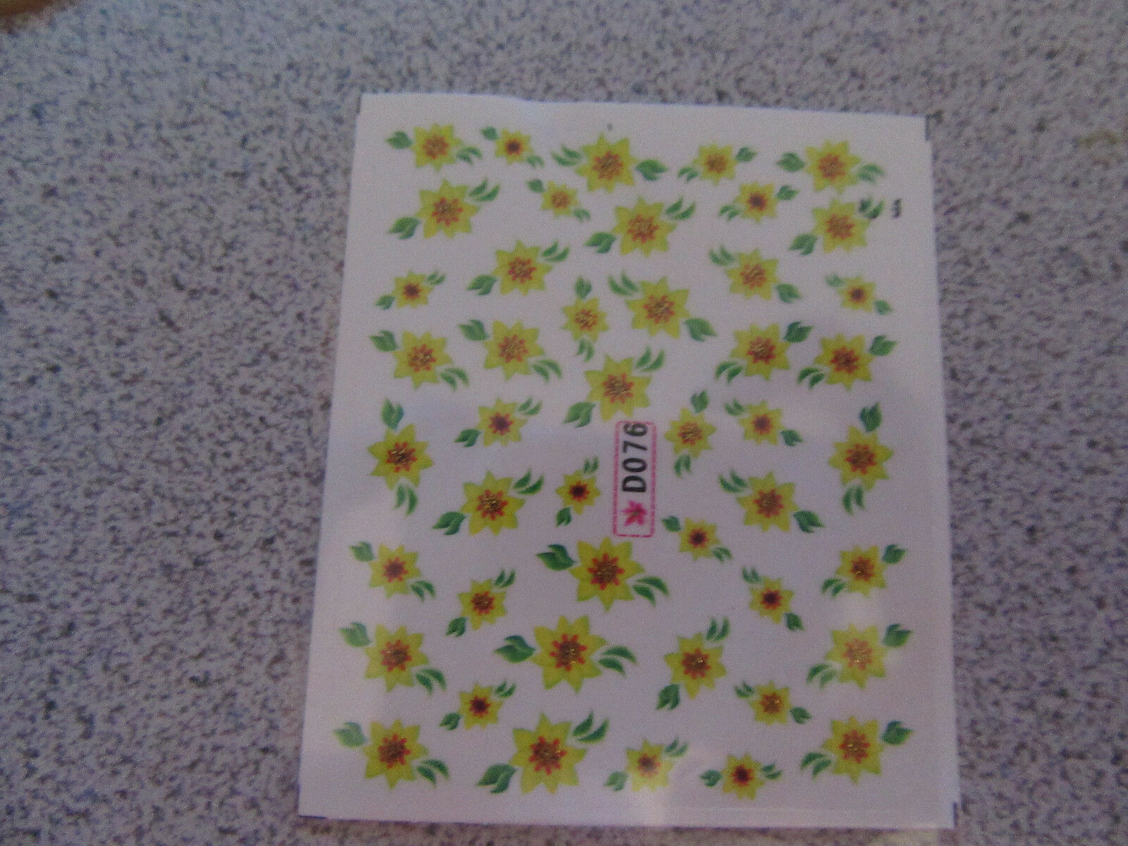 Primary image for NAIL ART WATER TRANSFERS (FLOWERS) #2