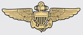 "NAVY AVIATOR GOLD WINGS 6"" WINDOW  STICKER CAR DECAL - $18.04"