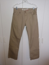 Denizen By Levis 218 Slim Straight Khaki PANTS-33X32-WORN ONCE-100% COTTON-GREAT - $22.00