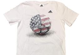 Neuf adidas Blanc Rouge Bleu Amérique USA Garçons 2 Pièce T-Shirt & Short Set image 2