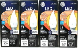 4 GE LED CAM 4.2w/40w Replace Soft White Decorative Frost Finish Dimmable Bulb - $19.99