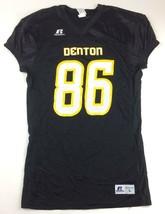 New Russells Athletics Denton #86 Stock Football Jersey Men's L Black S8... - $19.89