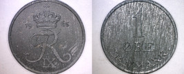 1965 Danish 1 Ore World Coin - Denmark - $3.49