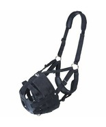Yearling Tough 1 Deluxe Easy Poly Nylon Padded Breathe Horse V Muzzle Bl... - $43.55