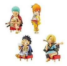*One Piece World Collectable Figures - sum - set of 4 Luffy Zoro Nami Sanji - $59.69