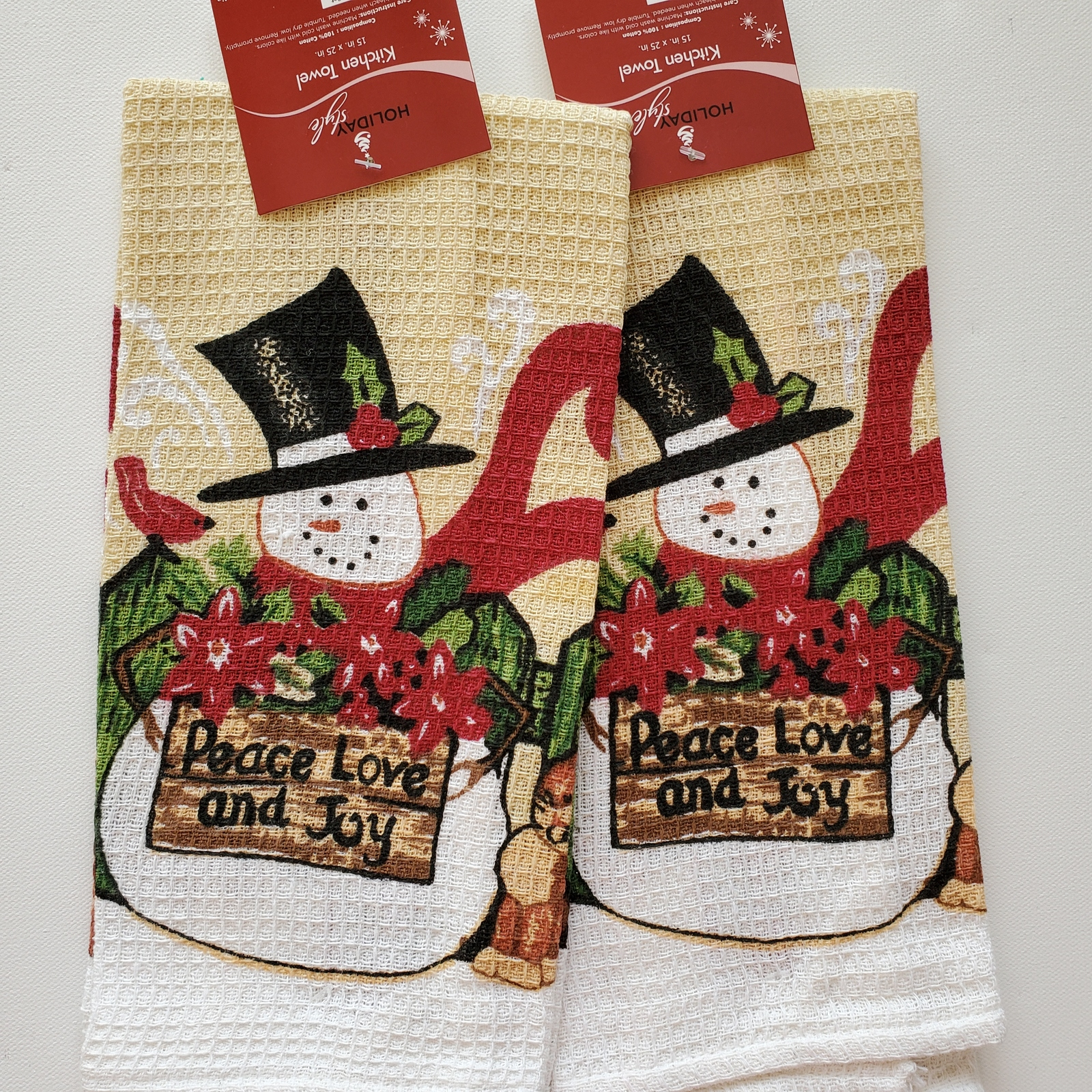 Christmastapestry towels 1