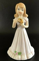 ENESCO - Brunette Growing Up Porcelain Birthday Girl - 9 Year Old Figurine - $6.19