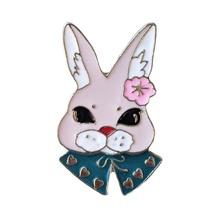 Animal Lapel Pin: Posh Bunny Rabbit (2) - $8.90