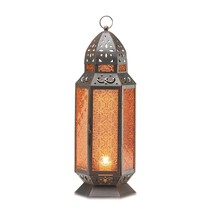 Moroccan Lanterns Decorative, Rustic Lantern, Tall Decorative Candle Lan... - $31.18